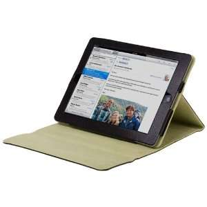 CE Compass Black Leather Cover Case Stand For The New iPad
