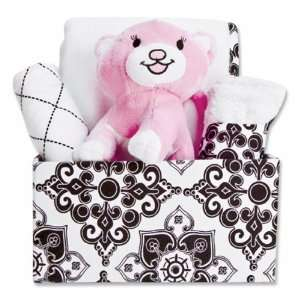 Versailles Black and White Fabric Covered Gift Box Set: Baby