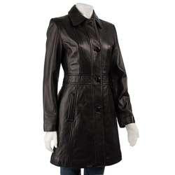 Jones New York Womens Leather Coat