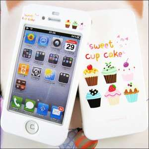 APPLE IPHONE 4G Hard Plastic Case Cover CUPCAKE+Cleaner