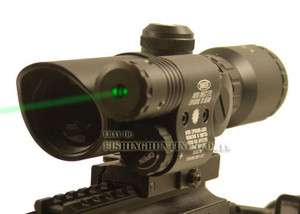 5X32 DUAL ILL. Rifle Scope 5mw Green Laser Sight QD