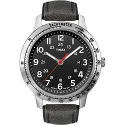 Timex Mens Weekender Sport Black Distressed Strap Watch