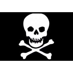 Skull Crossbones Flag Sheet of 21 Personalised Glossy