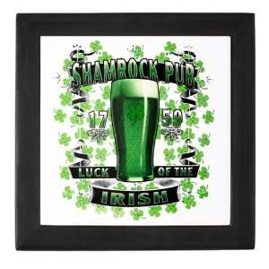 Keepsake Box Black Shamrock Pub Luck of the Irish 1759 St