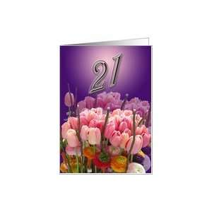 Happy 21st Birthday Greeting Card Card: Toys & Games