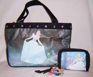 Disney Princesses Princess CINDERELLA PURSE Handbag & Zipper WALLET