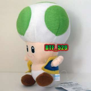 New Super Mario Brothers Plush Figure ( 7 Green Toad )