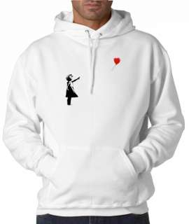Banksy Balloon Girl Graffiti Art 50/50 Pullover Hoodie