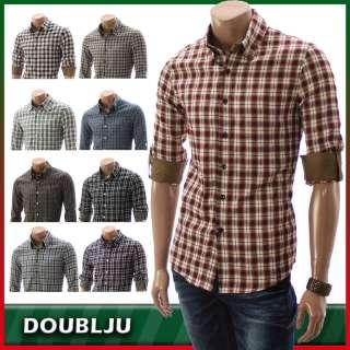 Unghea Mens Casual Buttondown Plaid Shirts(AA02)