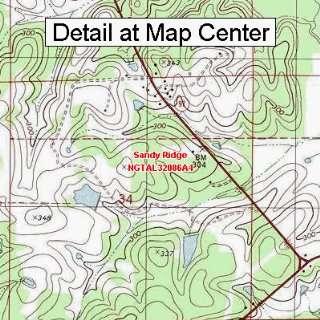 USGS Topographic Quadrangle Map   Sandy Ridge, Alabama
