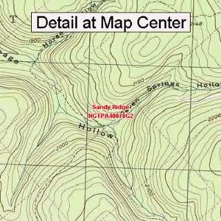 USGS Topographic Quadrangle Map   Sandy Ridge