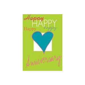 Happy Anniversary Applique Large Flag: Patio, Lawn