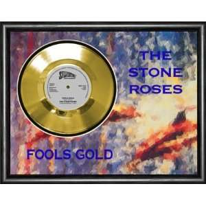 Stone Roses Fools Gold Framed Gold Record A3 Musical