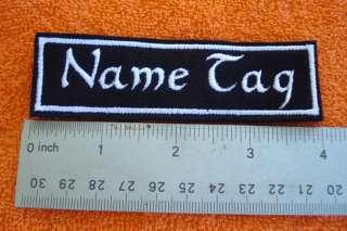 CUSTOM NAME TAG biker patch 6