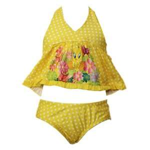 Warner Brothers Tweety Bird Baby Girl 2PC Swimwear Bikini