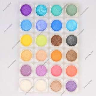 24pcs New Bare Eyeshadow Pigment Minerals Makeup Lots Mixed Color HG24
