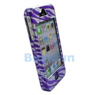 10xZebra Hard Cover Case Skin For Apple iPhone 4 4G 4TH