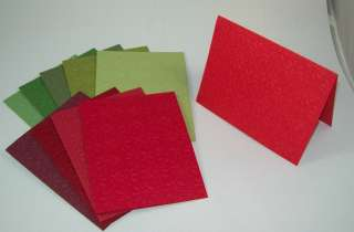Press Embossed Greeting Card Christmas Reds and Greems choice