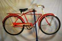 1963 Columbia Newsboy Special balloon tire bicycle bike red rat rod