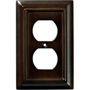 Wood Architectural Single Duplex Wall Plate, Espresso Electrical