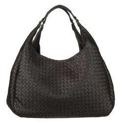 Campana Large Intrecciato Woven Leather Hobo Bag