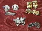 PAIR MENS CUFFLINKS ACTORS MASKS COMEDY & TRAGEDY