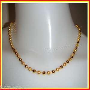 22K 23K 24K THAI BAHT YELLOW GP GOLD 18 inch NECKLACE Jewelry