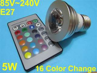 E27 Remote Control LED Bulb Light 16 Color lamp
