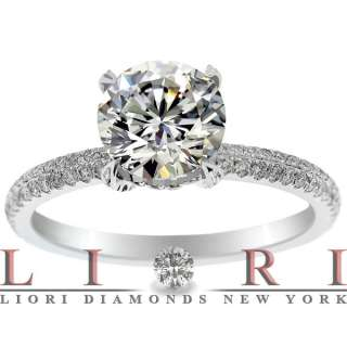 CERTIFIED NATURAL ROUND DIAMOND ENGAGEMENT RING 18K GOLD ER 731