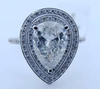 32 CT Pear Shaped DIAMOND 14K Gold ENGAGEMENT RING