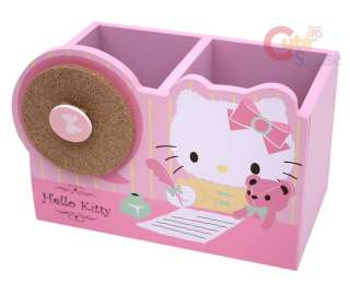 Sanrio Hello Kitty Wood Pencil Holder / Organizer Box