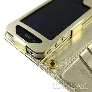Luxury Designer Cute Black Patent Leather iPhone 4 4S Pouch Wristlet