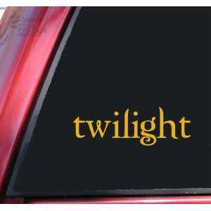 Twilight Logo Vinyl Decal Sticker   Mustard Automotive