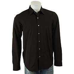 DKNY Mens Black Button down Shirt  Overstock
