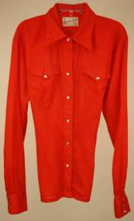 Ranchwear Cowgirl Rodeo Red Western Shirt Snap Button Down Medium M 6