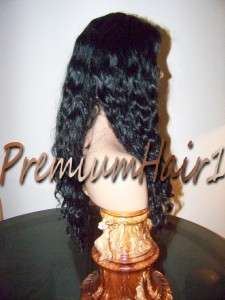 Full Lace Human Malaysian Remy Remi Hair Wig Deep Wave Natural Virgin