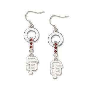 San Francisco Giants or San Francisco 49ers MVP Dangle Earrings Red
