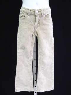 TRACTOR JEANS Girls Beige Corduroy Pants Size 6X