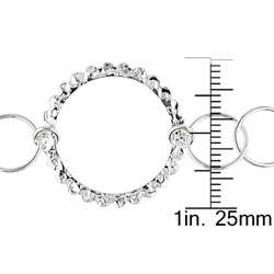 Sterling Silver Multi circle Link Necklace