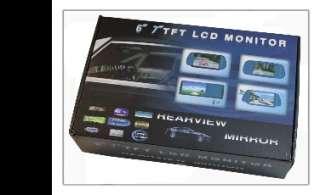 LCD Rearview Mirror Monitor Car Backup Camera System