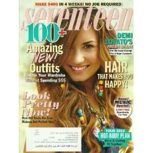 Seventeen Magazine February 2012 Demi Lovato,  Pretty Now! Bonus