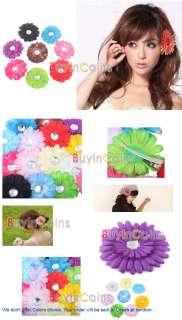20 X Baby Hair Bow Gerber Daisy Flower Headband Clip #2
