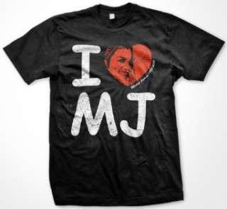 Michael Jackson Memorial I Love MJ T Shirt (Mens and