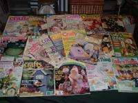 22 Vtg Lot Crafts Magazines Patterns Quilt Sew Crochet Paint