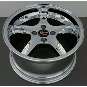 Cobra R 4 Lug Deep Dish Style Wheels Fits Mustang (R)   Chrome 17x8