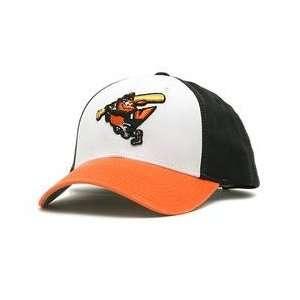 Baltimore Orioles Retro Logo Pastime Cap   White/Black/Orange