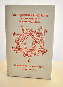 NIGROMANCIA of Roger Bacon Heptangle Black Magic Necromancy Sorcery