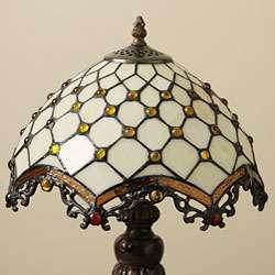 Tiffany style Jewel Roman Table Lamp