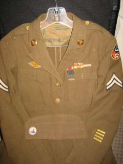 World War 2 13th AAF Ike uniform and cap