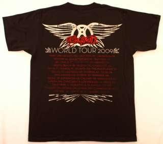 Aerosmith T Shirt Black 2009 World Tour NWOT New